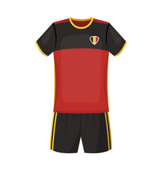 Form of the belgian football teamthe dark belgian vector