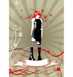 girl with ribbon vector image