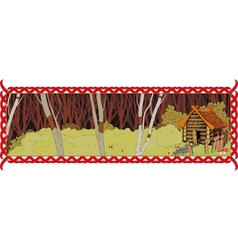 house in the fairy forest vector image vector image