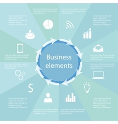 Infographic Business elements vector image vector image