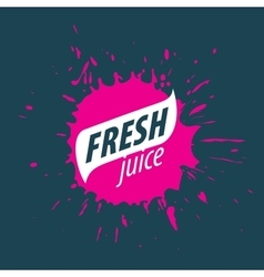 Juice splash sign vector