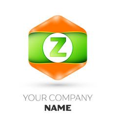 Letter z logo in the colorful hexagonal vector