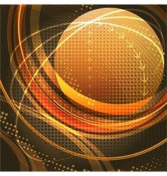 Media globe in gold vector image vector image