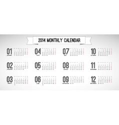 Monthly calendar vintage vector