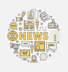News round colorful vector