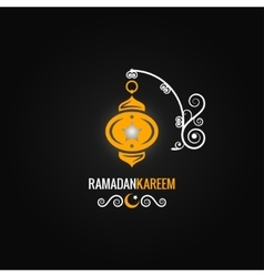 Ramadan lantern design background vector