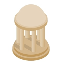 Rotunda icon isometric 3d style vector image