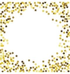 Round glitter gold frame vector
