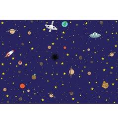 Space wallpaper vector image