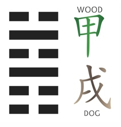 Symbol of i ching vector