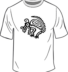 t-shirt with mexican symbol vector image