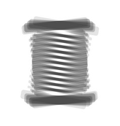 Thread sign gray icon shaked vector