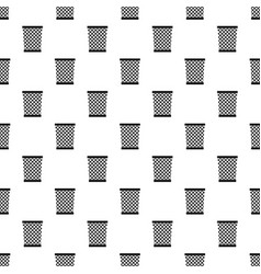 Wastepaper basket pattern vector