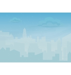 Rain storm and fog in the city cityscape vector