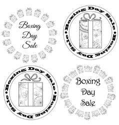 Boxing day sale stamps tags vector image