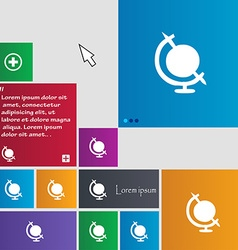 Icon world sign buttons modern interface website vector