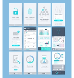 Interface and UI design elements vector image