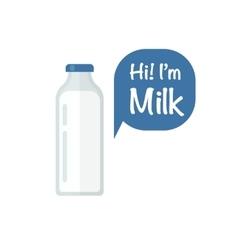 Milk bottle isolated on white vector