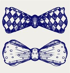 Bow-tie vector image