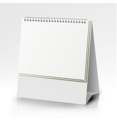 Spiral calendar  table blank stand holder vector