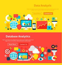 Big data website banners vector