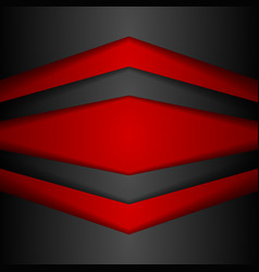 Abstract corporate modern red and black background vector