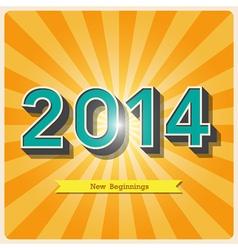 2014 retro poster EPS10 vector image