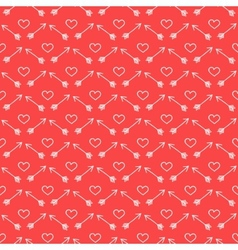 Red and white love background vector image