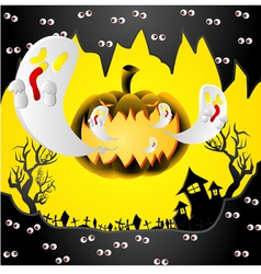 Creative halloween design with space vector