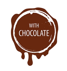 Logo chocolate printing for labels vector