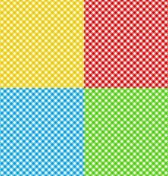 Different colors checked fabric tablecloth texture vector