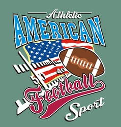 athletic american football vector image