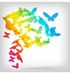 Colorful background with butterflies vector