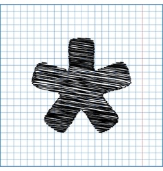 Asterisk star sign vector image