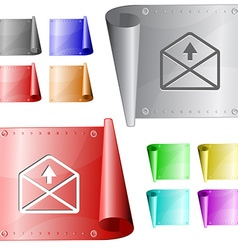 Mail up arrow vector