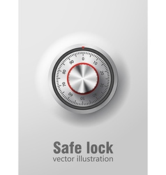 Safe lock realistic ibject eps 10 vector