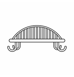 Bench with backrest icon outline style vector