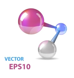 Abstract Molecule Connected Balls vector image