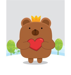 Bear heart vector