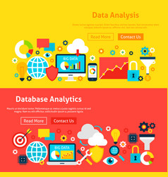 big data website banners vector image vector image