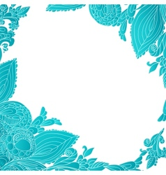 Blue abstract floral ornament background vector image vector image