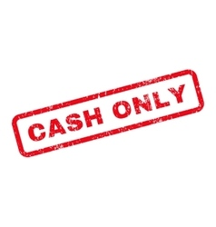 Cash Only Text Rubber Stamp vector image