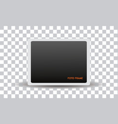 Clean isolated foto frame vector
