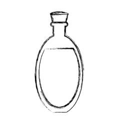 Coconut oil glass vector