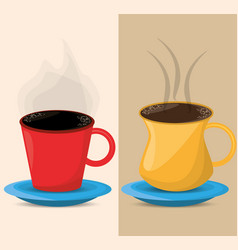 Coffee chocolate cup hot beverage design vector