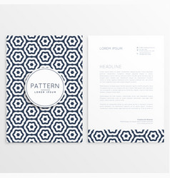 corporate letterhead template with pattern shape vector image vector image