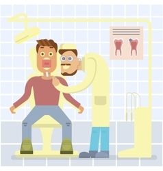 Dental office concept vector