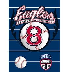 Eagle league baseball vector image vector image