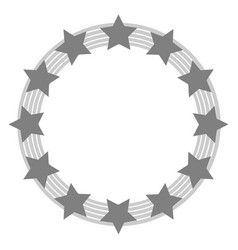 european union symbol in grey tones vector image