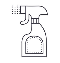 Foggy spray bottle line icon sign vector